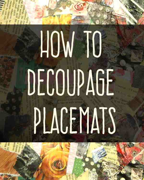 decoupage-placemats