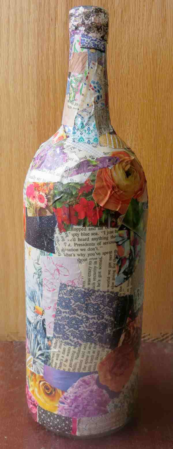 decoupage-wine-bottle