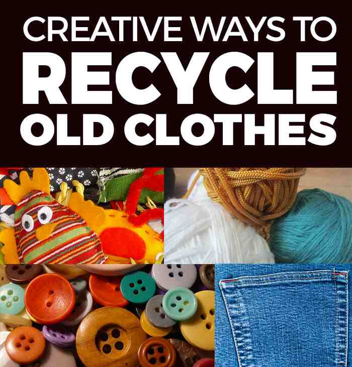 11 crafty ways to recycle old clothes for Creative ways to recycle