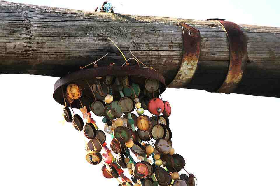 bottle cap windchimes craft ideas
